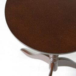 ラウンドテーブル木製テーブルサイドテーブルプランターテーブル花台天然木支柱天板幅30cm♪