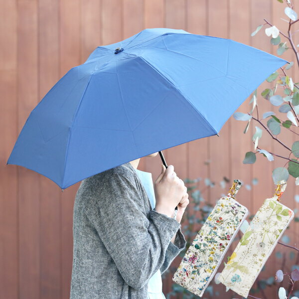 【MILESTO×LIBERTY】リバティプリント吸水ポーチ&折りたたみ傘セット[ミレスト/LIBERTY/ポーチ/折りたたみ傘/かさ]