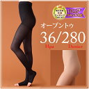 Swelling of the elastic stockings (wear pressure stockings) opening toe /280 denier / re-comfortable sun / foot
