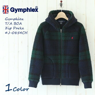 The arrival in winter latest the <autumn of 2013!> Gym flextime boa jacket boa zip up parka Black Watch # J-0854CH | Gymphlex | BOA | Fleece | Lady's size women | Autumn of 2013 winter | 2013AW