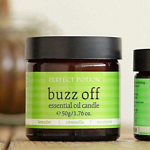 Perfect portion (PERFECT POTION) buzz off essential oil candle    fs3gm