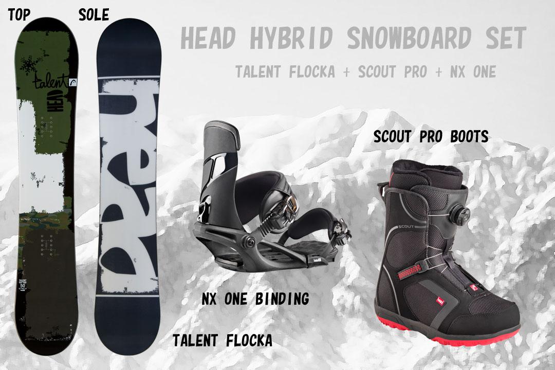 HEAD SNOWBOARDS [ メンズ スノーボード 3点セット TALENT FLOCKA 合計@122040] 驚愕の70パオフ!安心の正規品