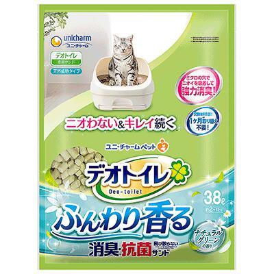 ユニチャームデオトイレ1週間消臭抗菌ふんわり香る消臭抗菌サンドナチュラルグリーンの香り38L