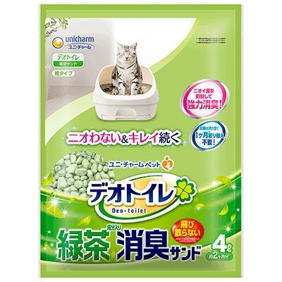 ユニチャーム1週間消臭抗菌デオトイレ飛散らない緑茶成分入り臭サンド4L