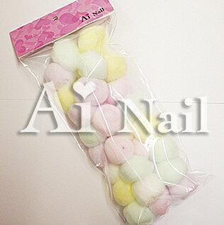 Aiネイル(アイネイル) コットン 30ヶ入り 超可愛いカラーコットンボール♪ネイルのふき取りに♪ジェルネイル ケア用品