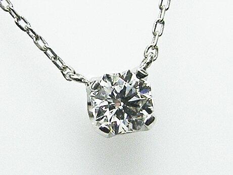 0.217ct E,SI1,クリスタルムーン PT製 4本爪 ダイヤモンドペンダント ハイカラー!!