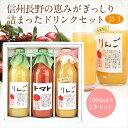 ジュース3本セット(J3-3)(りんご・トマト・果肉入りすりおろしりんご)1L×3本【のし・メッセ