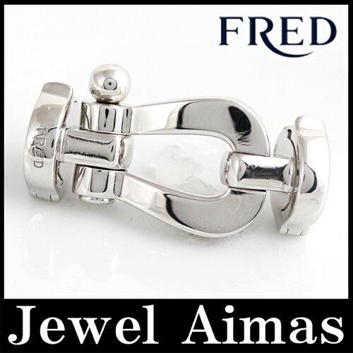 【FRED】フレッド フォース10 FORCE10 バックル ブレスレット 750WG/ホワイトゴールド【中古】