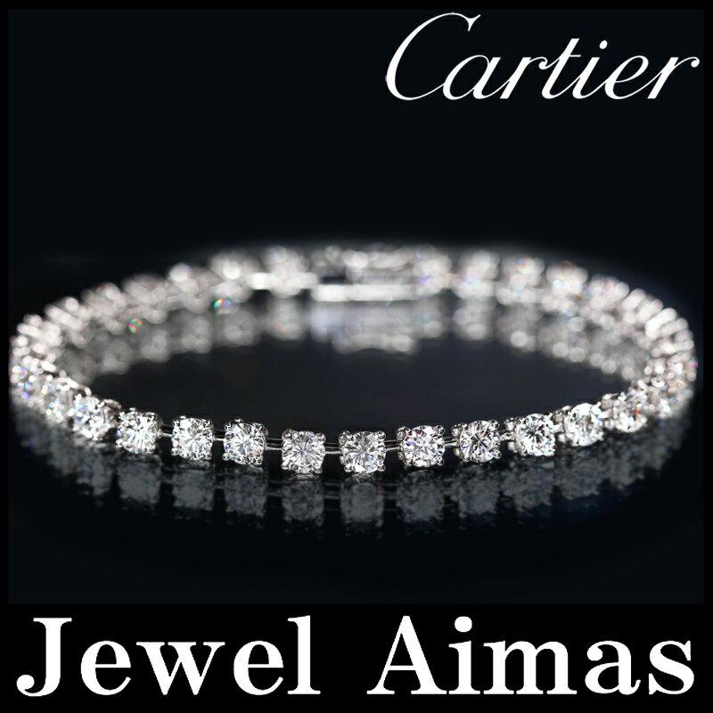 【スーパーSALE10%オフ】【Cartier】カルティエ ダイヤモンド 33P(6.6ct) テニスブレスレット エッセンシャル PT950【中古】ZPP