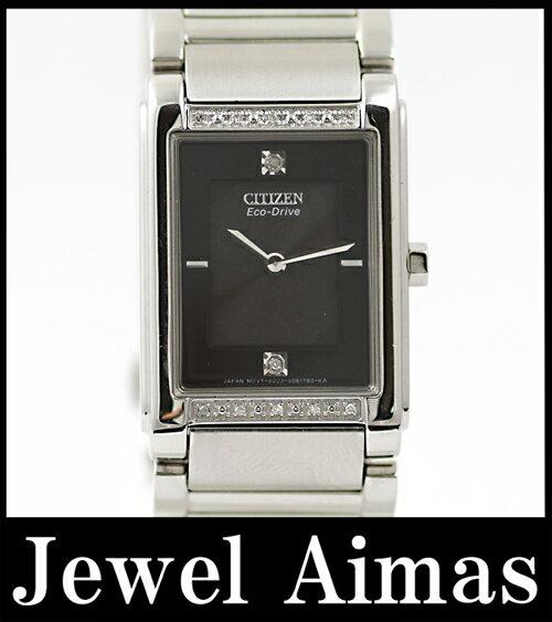 【CITIZEN】 シチズン エコドライブ BL6060-53E ダイヤモンド 黒文字盤 ソーラー光発電 時計 メンズ/レディース腕時計 【】 シチズン エコドライブ BL6060-53E