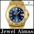 【ROLEX】ロレックス ヨットマスター 68628 W番 1994年頃製 ブルー 文字盤 K18 YG イエローゴールド 金無垢 ボーイズ メンズ 自動巻き【中古】【腕時計】