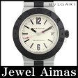 【BVLGARI】ブルガリ アルミニウム AL38A デイト シルバー 文字盤 アルミ ラバー メンズ 自動巻き【中古】【腕時計】