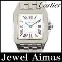 【Cartier】カルティエ サントス ドゥモワゼル SM W25064Z5 2698 ホワイト 文字盤 SS ステンレス レディース クォーツ ドゥモアゼル【...