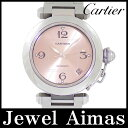 【Cartier】カルティエ パシャC デイト W31075M7 ピンク 文字盤 SS ステンレス レディース ボーイズ 自動巻き【中古】【腕時計】