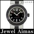 【BVLGARI】ブルガリ アルミニウム AL32TA 18Pダイヤモンド デイト ブラック 文字盤 アルミ ラバー レディース クォーツ【中古】【腕時計】