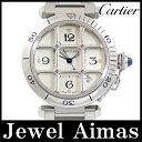 【Cartier】カルティエ パシャ 38 グリッド W31040H3 シルバー 文字盤 SS ステンレス メンズ 自動巻き 【中古】【腕時計】