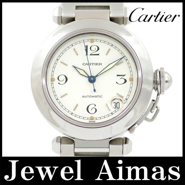 【Cartier】カルティエ  パシャC W31015M7 ホワイト 文字盤 SS ステンレス レディース ボーイズ メンズ ユニセックス 自動巻き【】【腕時計】 カルティエ パシャC ホワイト