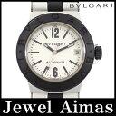 【BVLGARI】ブルガリ アルミニウム AL32TA デイト シルバー 文字盤 アルミ ラバー レディース クォーツ【中古】【腕時計】