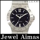 【BVLGARI】ブルガリ ディアゴノ スポーツ LCV35S ブラック 文字盤 SS ステンレス メンズ 自動巻き【中古】【腕時計】