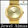 【ROLEX】ロレックス Celini チェリーニ 金無垢 ゴールド 文字盤 YG イエローゴールド 1970年頃製 メンズ 手巻き アンティーク【中古】【腕時計】