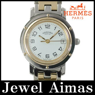 Hermes Clipper CL4.220 white characters Edition SS stainless steel Combi ladies quartz
