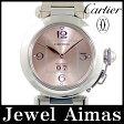 【Cartier】カルティエ パシャC ビッグデイト W31058M7 ピンク 文字盤 SS ステンレス レディース 自動巻き【中古】【腕時計】