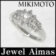 【MIKIMOTO】ミキモト フラワー ダイヤモンド リング 0.63ct Pt950 11号【中古】【小物】