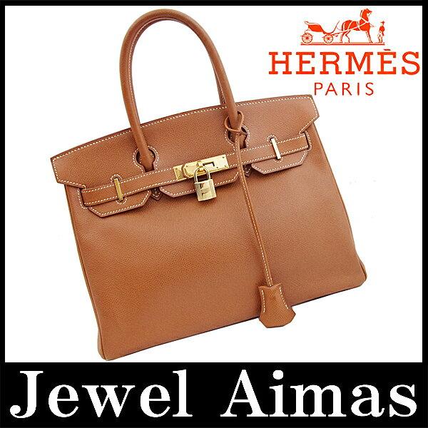 【HERMES】エルメス バーキン 30 ハンド トート バッグ ブラウン ゴールド 金具 クシュベル【中古】