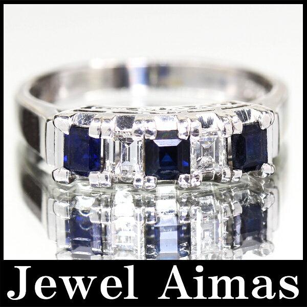 【ジュエリー】サファイア 0.66ct ダイヤモンド 0.31ct リング 14.5号 PT900【】ZPY201706海外 サファイア ダイヤ リング