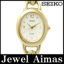 【SEIKO】セイコー LUCENT ルーセント 1E21-5C30 ホワイト 文字盤 ゴールド SS ステンレス レディース クォーツ 【中古】【腕時計】