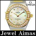 【OMEGA】オメガ コンステレーション ミニ マイチョイス 1365.71 ダイヤベゼル ホワイトシェル 文字盤 YG イエローゴールド SS ステンレス コンビ レディース クォーツ