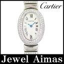 【Cartier】カルティエ ミニベニュワール 3重ダイヤモンドベゼル ブレスダイヤ ホワイト 文字...