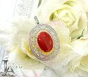 赤珊瑚 赤サンゴ ダイヤモンド ペンダントトップ
