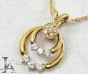 【WALTHAM】 ウォルサム 750YG/K18 スウィング ダイヤモンド ペンダント ネックレス 【中古】