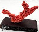 ショッピング物置 【ジュエリー】天然桃珊瑚 置物 鳳凰/鳥/花の彫刻 縁起物 置き物 オブジェ 275g【中古】