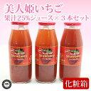 25%果汁入り 美人姫いちごジュース 160g×3本セット 化粧箱