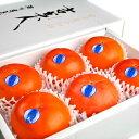 高級身不知柿(みしらずがき) 吉美人(きちびじん) 4Lサイズ6玉 福島県会津産 化粧箱入り