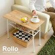 送料無料 テーブル サイドテーブル 北欧 木製 ソファーテーブル ベッドサイドテーブル ナイトテーブル 天板 table 60cm幅 おしゃれ ナチュラル シンプル モダン 長方形 脚 棚付き サイドテーブル Rollo〔ロロ〕長方形タイプ
