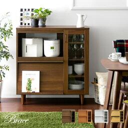 レンジ台 レンジラック 大型レンジ対応 レンジボード <strong>食器棚</strong> キッチンカウンター キッチンボード キッチン収納 木製 北欧 キッチン 棚 キャビネット おしゃれ かわいい レトロ ミッドセンチュリー 白 ホワイト Brace Kitchen cabinet