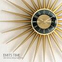 壁掛け時計 掛け時計 時計 北欧 ミッドセンチュリー レトロ クロック ウォールクロック モダン おしゃれ インテリア 存在感ある ミッドセンチュリー デザイン 壁掛け時計 EMITS TIME