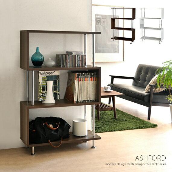 ラック リビング収納 オープンシェルフ 木製 北欧 棚 収納 4段 収納ラック 収納棚 シ…...:air-rhizome:10000368