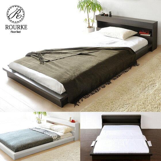 送料無料 ベッド セミダブル 木製ベッド フロアベッド モダン フロアタイプベッド ローベ…...:air-rhizome:10001537