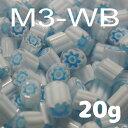 ミルフィオリ『φ3mm(20g)、M3-WB新色』【ベネチアンガラス イタリア ムラノ島 モレッティ ガラス 金太郎飴 千の花 フュージング 焼成】