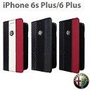 【SALE】アルファロメオ 公式ライセンス品 iPhone6plus 6sPlusケース 手帳型 【色合いが上品なアイフォン6プラスケース レザー ブラック レッド ユニセックス メンズ ブランド シンプル 6Plusケース 】送料無料