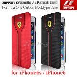 フェラーリ・公式ライセンス品 iPhone6s iPhone6 アイフォン6 ケース 手帳型 【 アイフォン6 iphone6sケース ブックタイプ カーボン iPhoneケース スマホケース かっこいい メンズ シンプル ビジネス ブランド 】フェラーリ フォーミュラワン F1コレクション