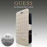 iphone6s plus/iPhone6 plus ���եȥ쥶�� ��Ģ���ʥ֥å������ס� GUESS�ʥ����ˡ���饤������ �֥��� ���С� �� ������ ���? [Guess Croco Super Slim Folio Case for iphone6splus/6plus] ������̵���ۡڤ������б��������� ���å�����
