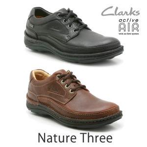 【クラークス】 Clarksネイチャースリー【ブラック/マホガニー】レザー Nature Three