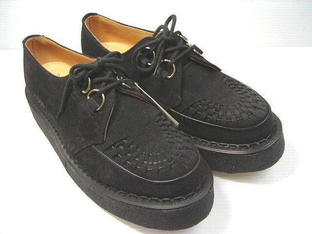 GEORGE COX ジョージコックス 3588 BLACK SUEDE (BLACK SOLE)ブラックスエード ブラックインターレース 02P26Mar16