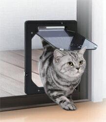 ペット用品PD1923(猫・小型犬用)網戸専用犬猫出入り口Sサイズペット用出入り口網戸専用ドア1万円