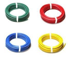 【堺電業】 溶接用色付 キャブタイヤケーブル WCT 38スケ カラー 10m 赤色・青色・黄色・緑色